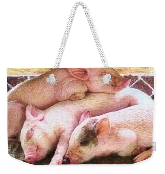 S Three Little Piglets - Square Weekender Tote Bag