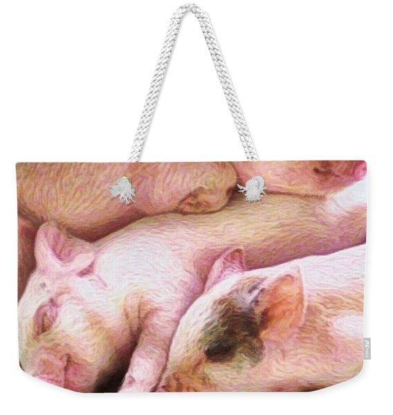 V Three Little Piglets - Vertical Weekender Tote Bag
