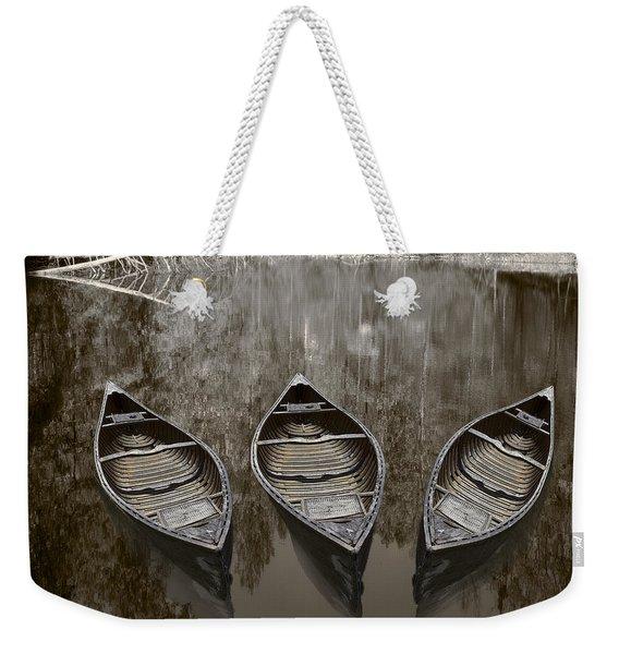 Three Old Canoes Weekender Tote Bag