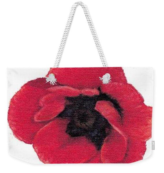 Three Red Poppies Weekender Tote Bag