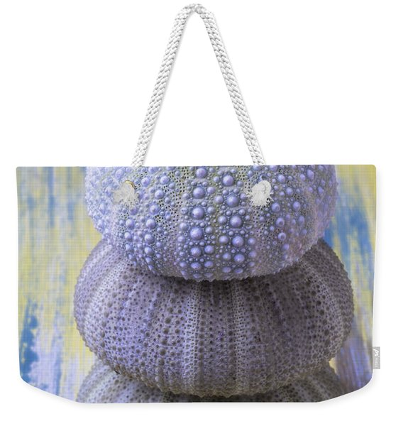 Three Sea Urchins Weekender Tote Bag