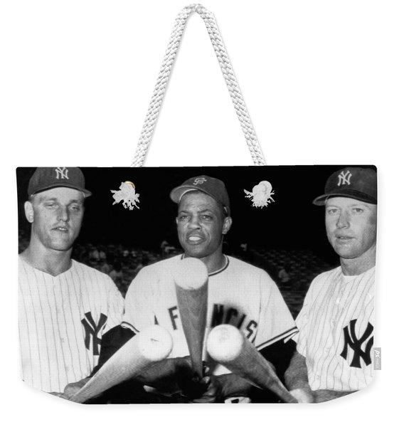 Three Slugging Outfielders Weekender Tote Bag
