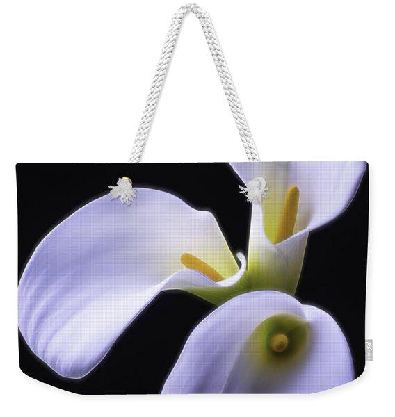 Three Soft Calla Lilies Weekender Tote Bag