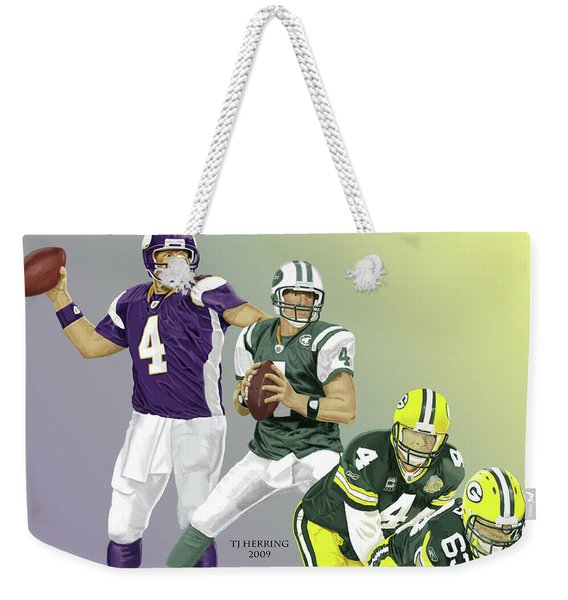 Three Stages Of Bret Favre Weekender Tote Bag