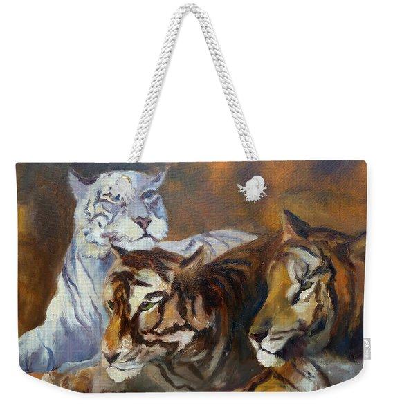 Three Tigers Weekender Tote Bag