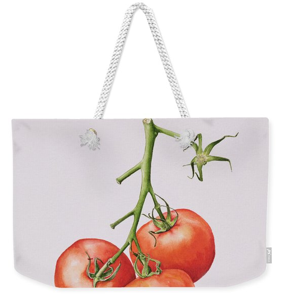 Three Tomatoes On The Vine Weekender Tote Bag