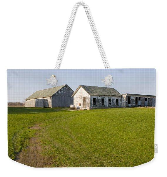 Three Weathered Farm Buildings Weekender Tote Bag