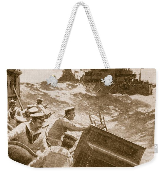 Throwing Overboard All Inflammable Luxuries When A Battleship Is Cleared For Action Weekender Tote Bag