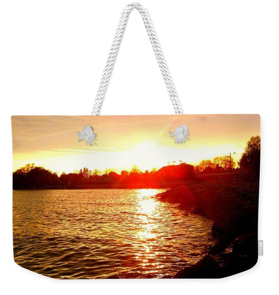 Thunder Bay Sunset Weekender Tote Bag