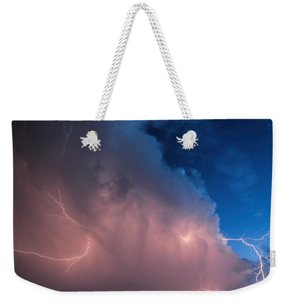 Thunder God Approaches Weekender Tote Bag