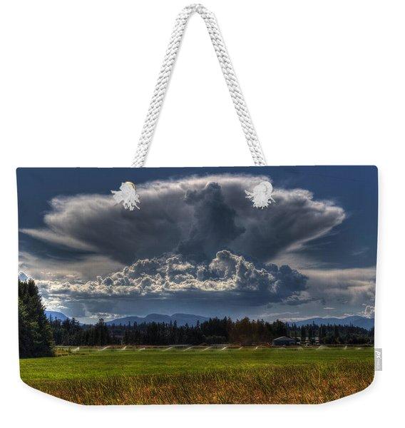 Thunder Storm Weekender Tote Bag