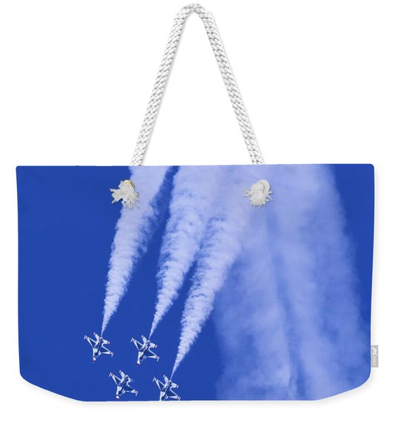 Thunderbirds Diamond Formation Downwards Weekender Tote Bag
