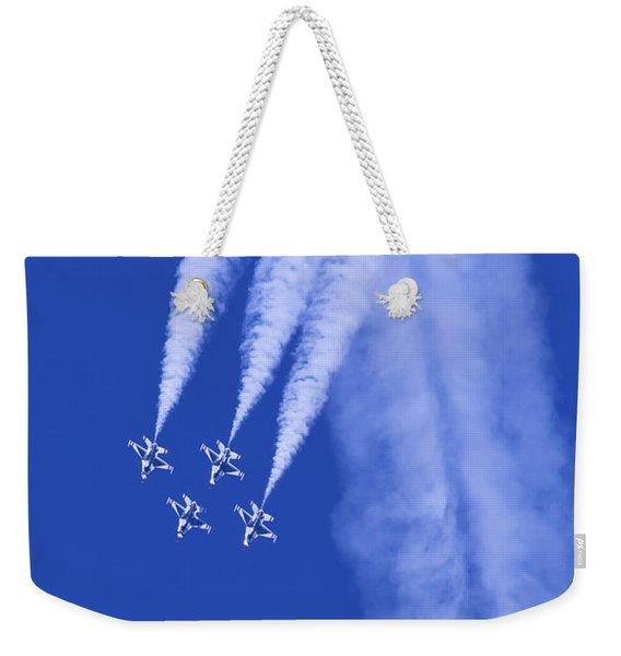 Thunderbirds Diamond Formation Downwards Weekender Tote Bag