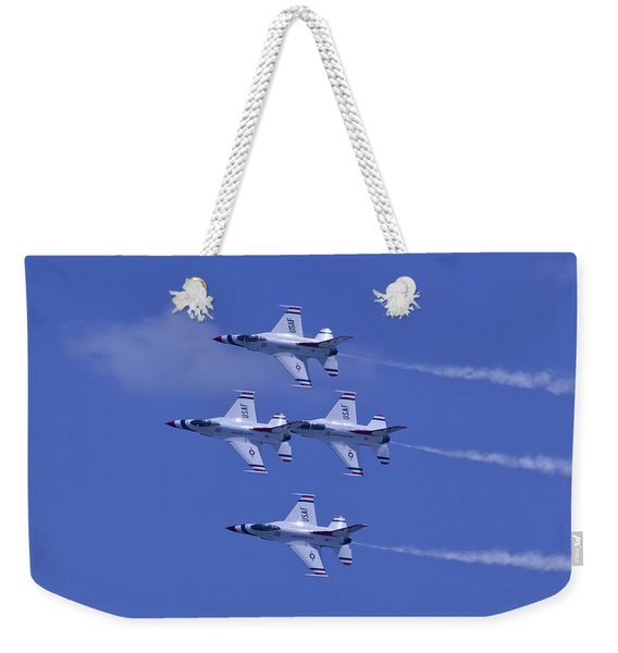 Thunderbirds Diamond Formation Topsides Weekender Tote Bag
