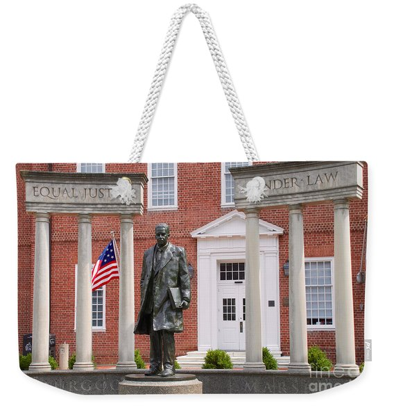 Thurgood Marshall Statue - Equal Justice For All Weekender Tote Bag