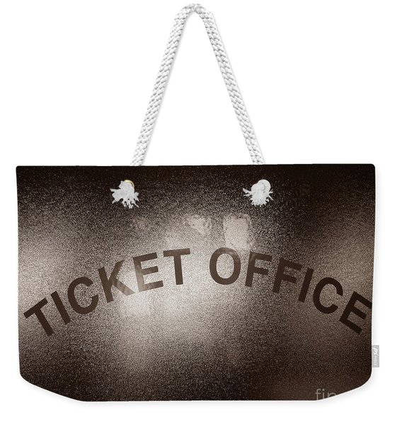 Ticket Office Window Weekender Tote Bag