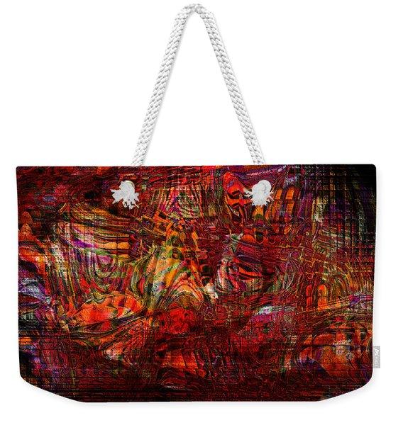 Tiger Glass Weekender Tote Bag
