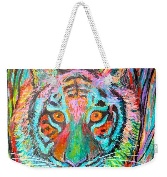 Tiger Stare Weekender Tote Bag