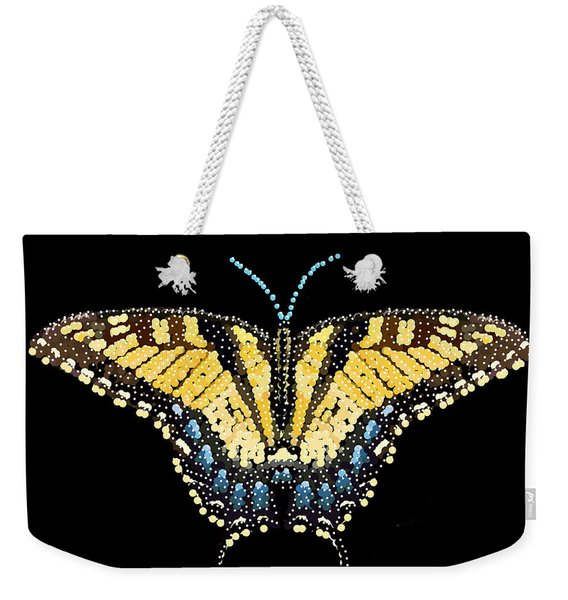 Tiger Swallowtail Butterfly Bedazzled Weekender Tote Bag