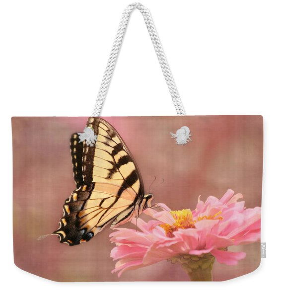 Tiger Swallowtail In The Pink Weekender Tote Bag
