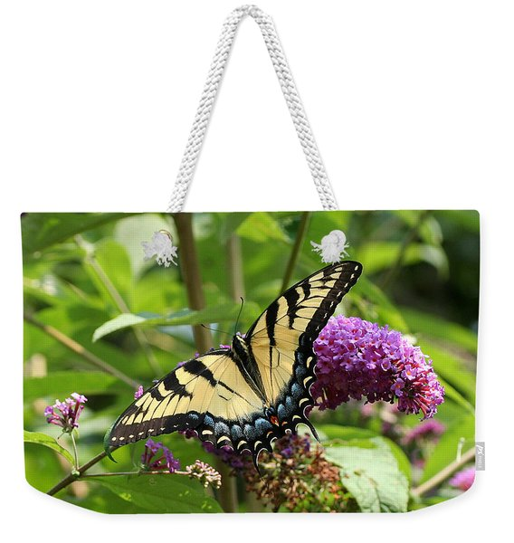Tiger Swallowtail On Butterfly Bush Weekender Tote Bag