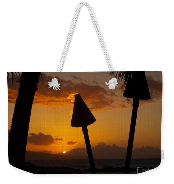 Tiki Time In Maui Weekender Tote Bag