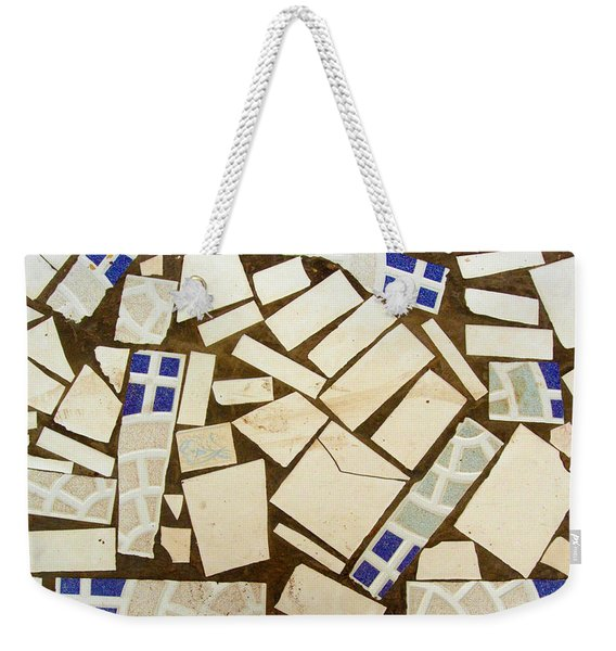 Tile Pieces In Brown Grout Weekender Tote Bag
