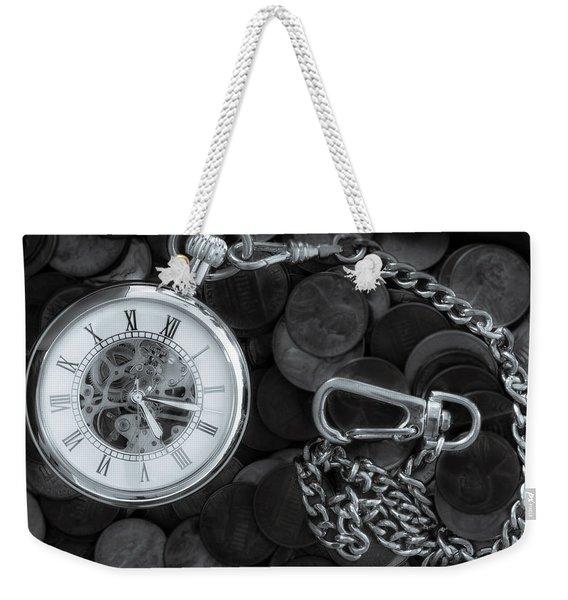Time And Money Weekender Tote Bag