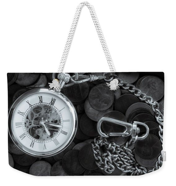 Time And Money Weekender Tote Bag