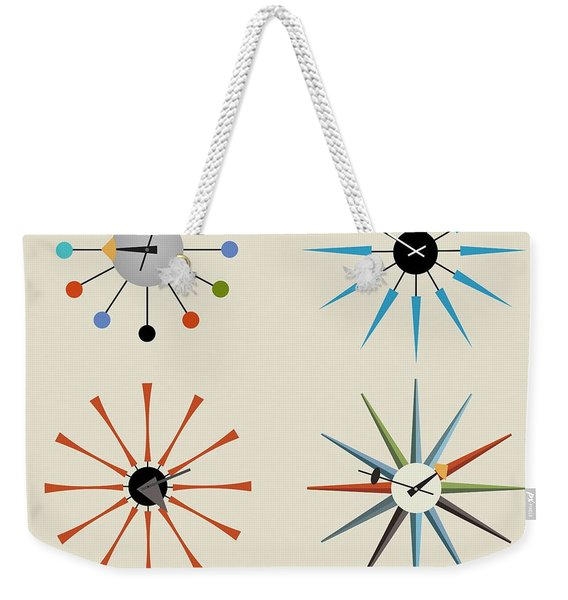 Time For Mid-century Weekender Tote Bag