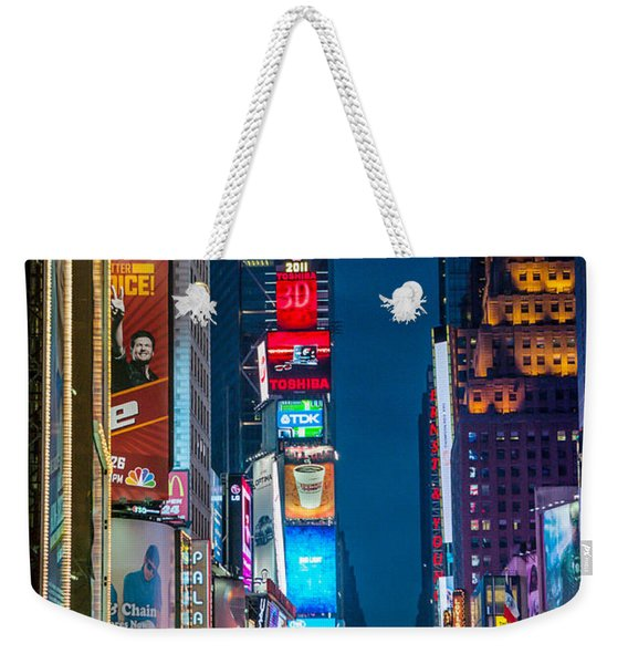 Times Square I Weekender Tote Bag