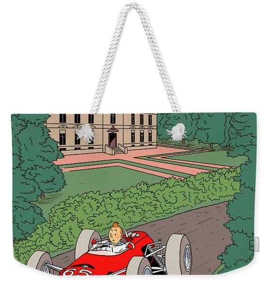 Tintin Grand Prix De Moulinsart 1965  Weekender Tote Bag