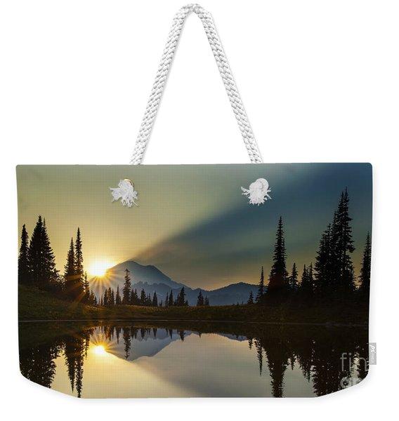 Tipsoo Rainier Sunstar Weekender Tote Bag