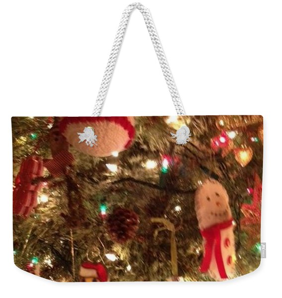 Weekender Tote Bag featuring the photograph Tis Christmas by Laurie Lundquist