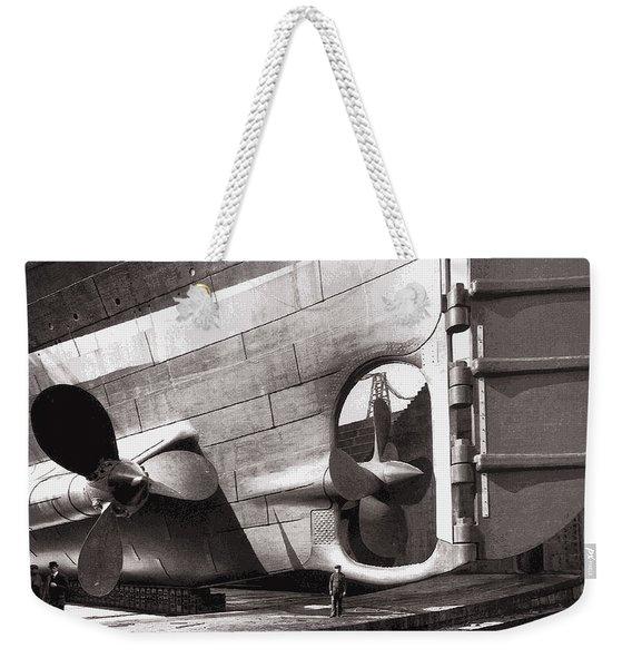 Titanic Rudder And Props  1911 Weekender Tote Bag