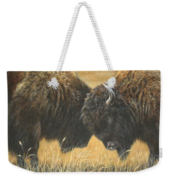 Titans Of The Plains Weekender Tote Bag