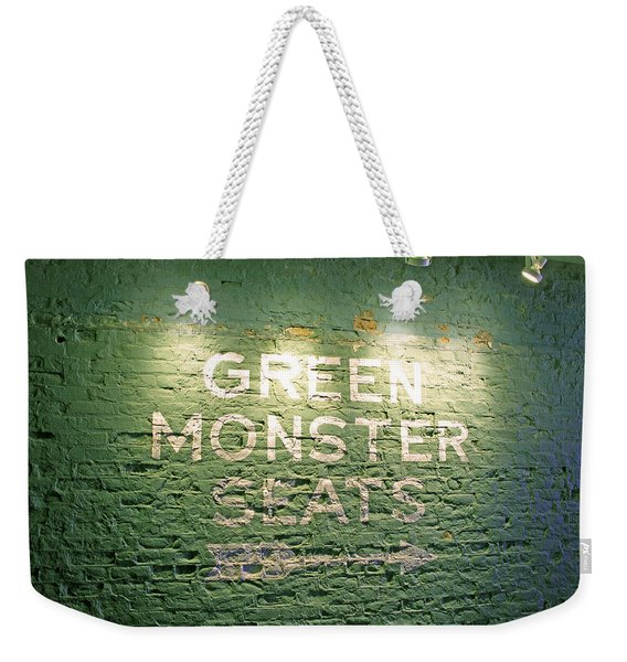 To The Green Monster Seats Weekender Tote Bag