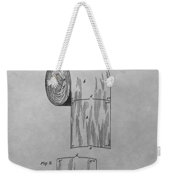 Toilet Paper Patent Drawing Weekender Tote Bag