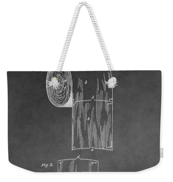 Toilet Paper Roll Patent Drawing Weekender Tote Bag