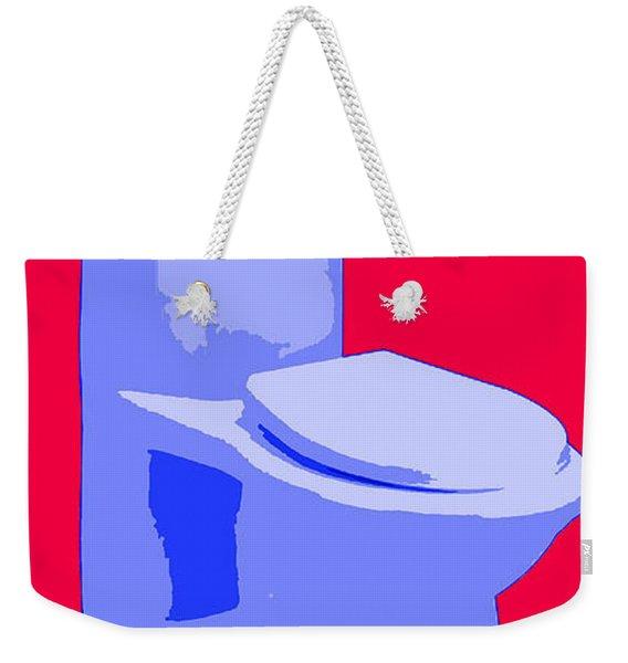 Toilette In Blue Weekender Tote Bag