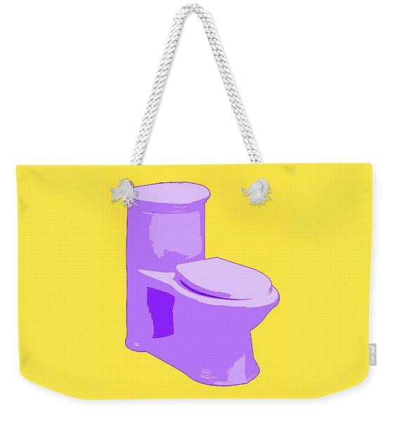 Toilette In Purple Weekender Tote Bag