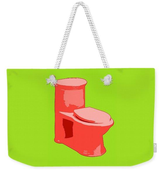 Toilette In Red Weekender Tote Bag