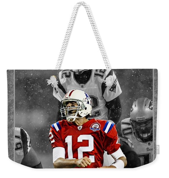 Tom Brady Patriots Weekender Tote Bag