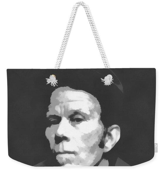 Tom Waits Charcoal Poster Weekender Tote Bag