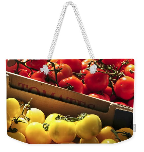Tomatoes On The Market Weekender Tote Bag