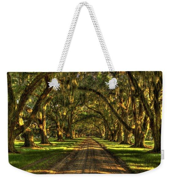 Afternoons Yellow Light Tomotley Plantation Historic Live Oaks Beaufort South Carolina Art Weekender Tote Bag