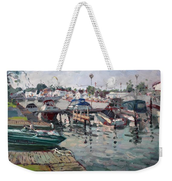 Tonawanda Island Launch Club  Weekender Tote Bag