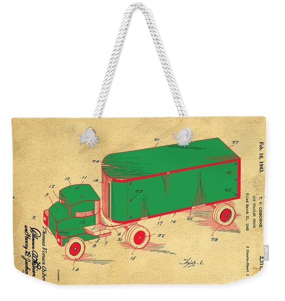 Tonka Truck Patent Weekender Tote Bag