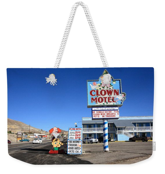Tonopah Nevada - Clown Motel Weekender Tote Bag