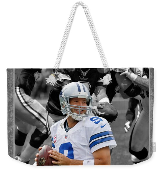 Tony Romo Cowboys Weekender Tote Bag